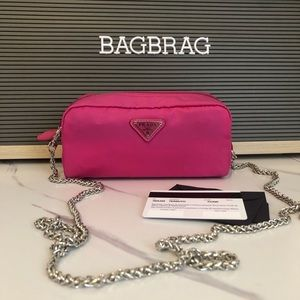 Prada pink pouch case cosmetic